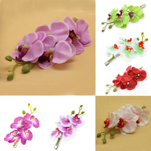 2017 New Fashion Flower Hair Clip for female Hairpin Party Hairpin Hair Accessories Butterfly orchid flower ornaments decorated недорого