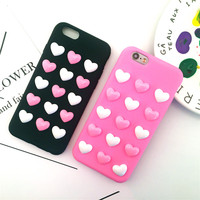 3d Heart Phone Cases For Iphone 7 Case Iphone 6s Coque Fashion Candy Colors For Summer