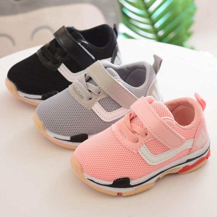 Children Kid Girl Boy shores Letter Mesh Sport Running Sneaker Breathable Casual Shoes m6 uk mesh panel letter print hoodie