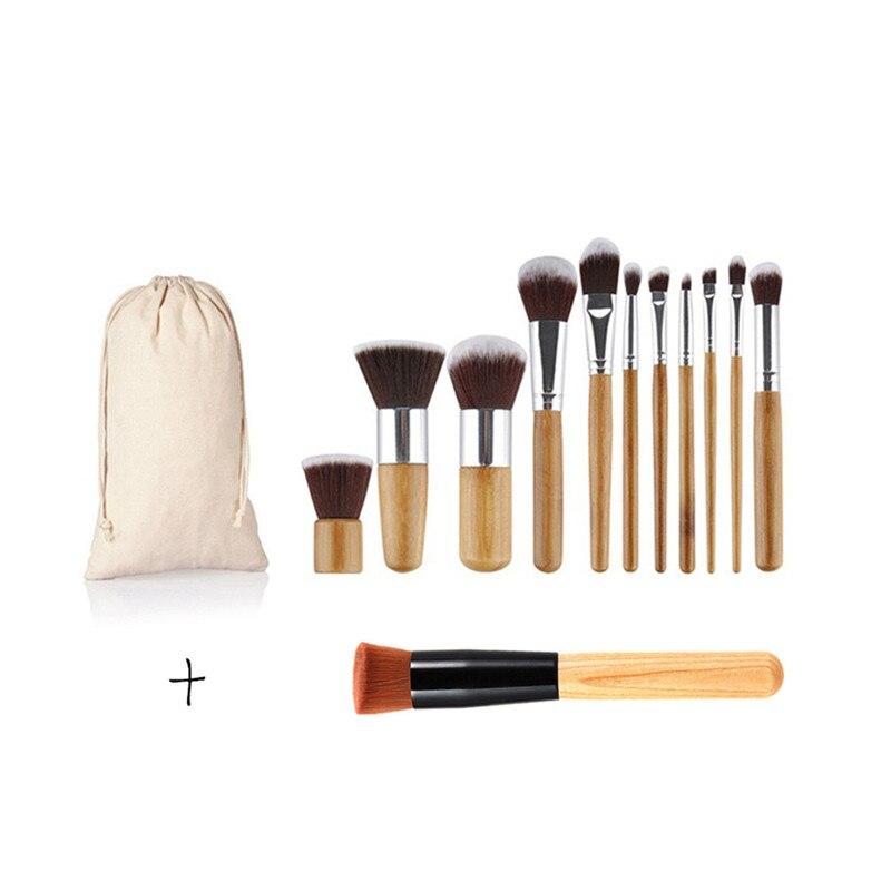 11PCS Makeup Brushes Professional Make Up Beauty Blush Foundation Contour Powder Cosmetics Makeup Brushes Set with Cloth Bag