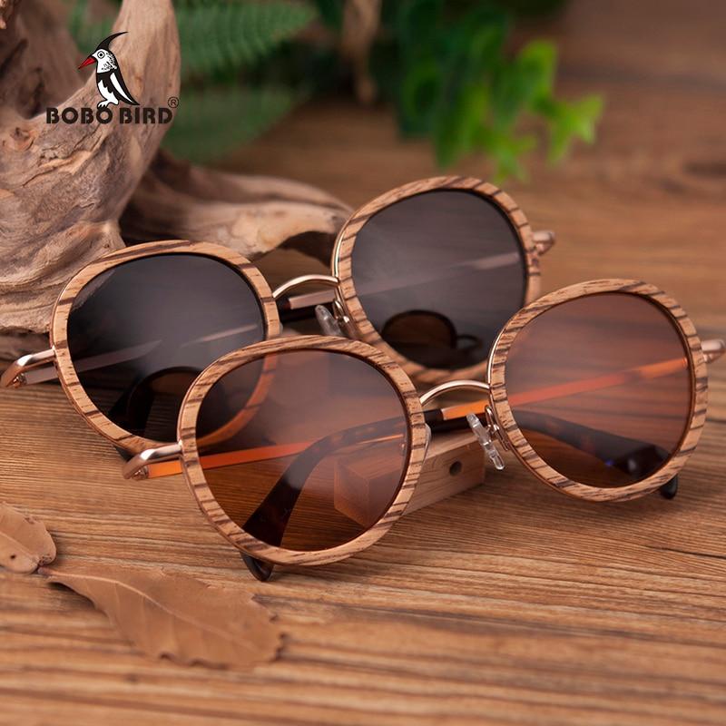 BOBO BIRD cebra al por mayor de madera de bambú gafas de sol Polaroid gafas  de sol de las señoras Eyewear en caja de madera personalizar Logo ... c64fdb9b35d4