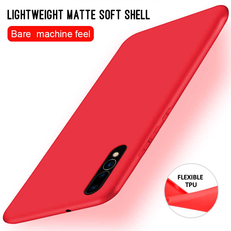 Candy Color Case For Huawei P30 Pro P20 Mate 20 Lite Pro X 10 Nova 4 Y7 Prime 2018 Y9 2019 Full Cover Soft Matte Slim TPU Cases