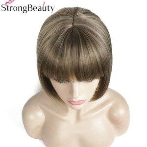 Синтетический короткий прямой парик для женщин, 10 дюймов