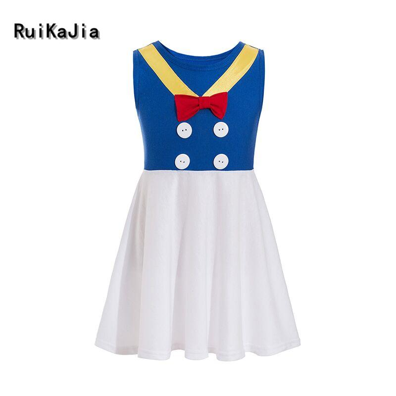 Donald Duck Sleeveless Character Inspired Dress Fab Five Girls Outfit  Halloween Costume Princess fancy dress little girlsDonald Duck Sleeveless Character Inspired Dress Fab Five Girls Outfit  Halloween Costume Princess fancy dress little girls