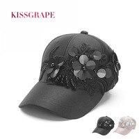 של 2017 קיץ נשים כובעי בייסבול כובעי כובעי שמש פרח אופנה נצנצים שחור לנשימה caps גדול כובעי snapback סגנון רחוב בנות כובע