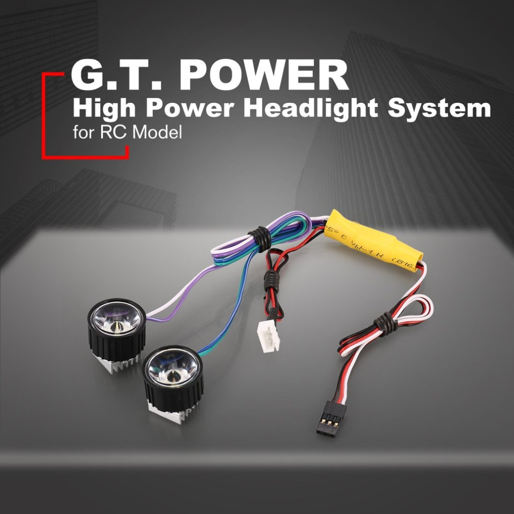 G.T.POWER High Power System Headlight Super Bright LED Light / Lamp for RC Car RC Crawler Airplane Boat Accessories image
