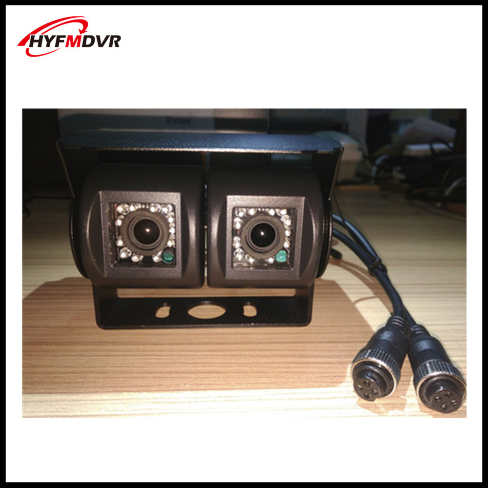 SONY 600TVL dual lens car camera front view waterproof metal probe cmos420tvl/800tvl truck / school bus 720P/960P/1080P