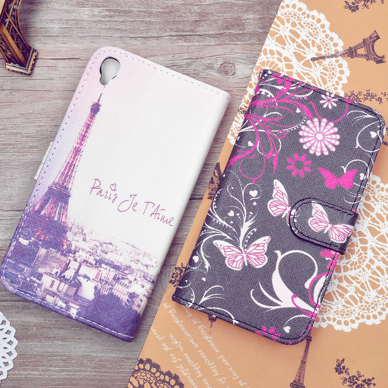 """Case For Alcatel One Touch Idol 3 5.5"""" PU Leather Flip Cover For Alcatel One Touch Idol 3 6045Y Protective Phone Bags&Cases J&R"""
