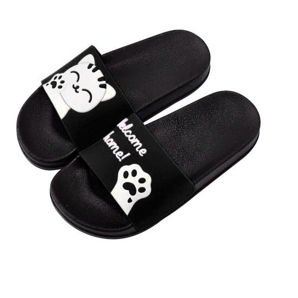 Panda Slippers Women Summer Beach Shoes Open Toe Anti Slip Indoor Home Slippers Beach Flip Flops Flat Slides цена
