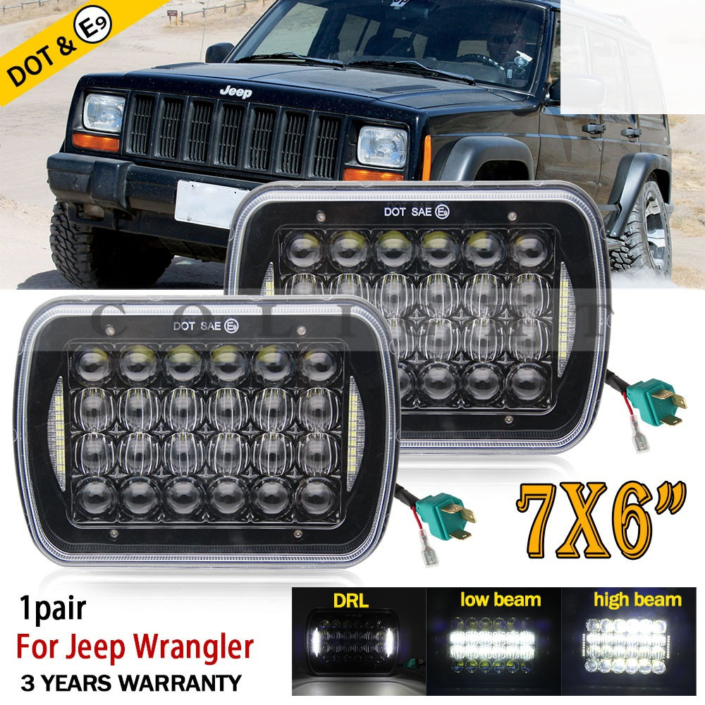 купить CO LIGHT 5D 5X7inch 85W Led Headlight 7x6 12V Hi-Lo DRL for Jeep Wrangler YJ XJ Truck FLD 50 60 70 80 Firebird Celica 240SX GMC по цене 5958.62 рублей
