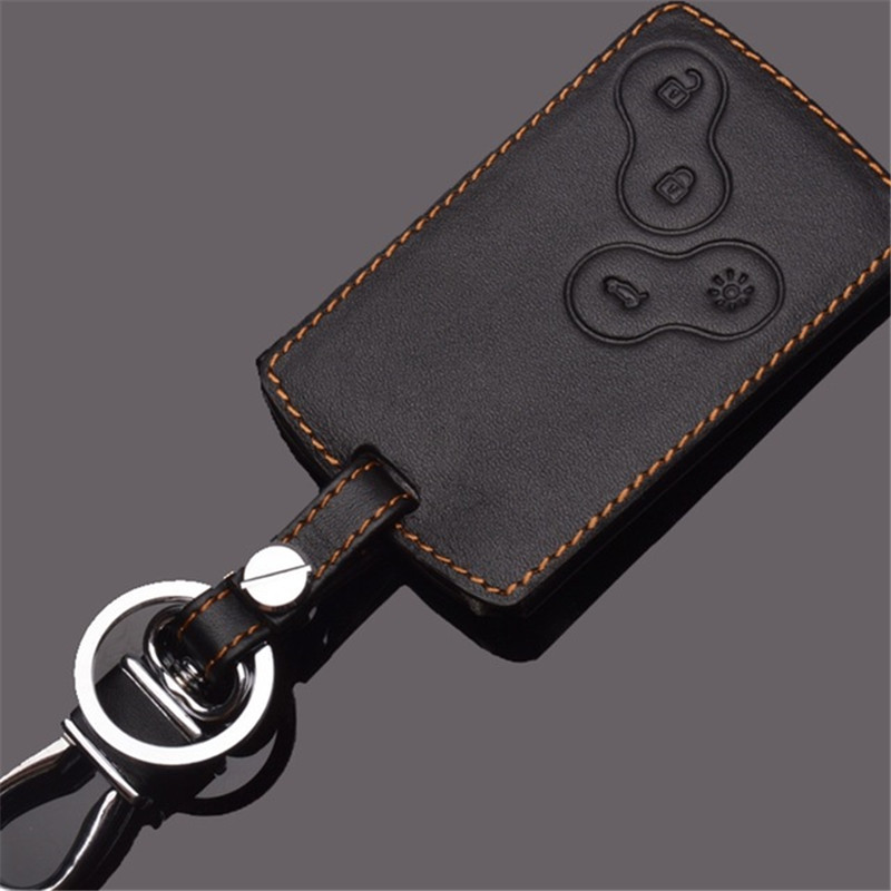 Leather Keychains For Renault Koleos Laguna 2 3 Megane 1 2 3 Sandero Scenic Captur Clio Duster Fluence Leather Key Holder Rings сетка на решетку радиатора renault sandero