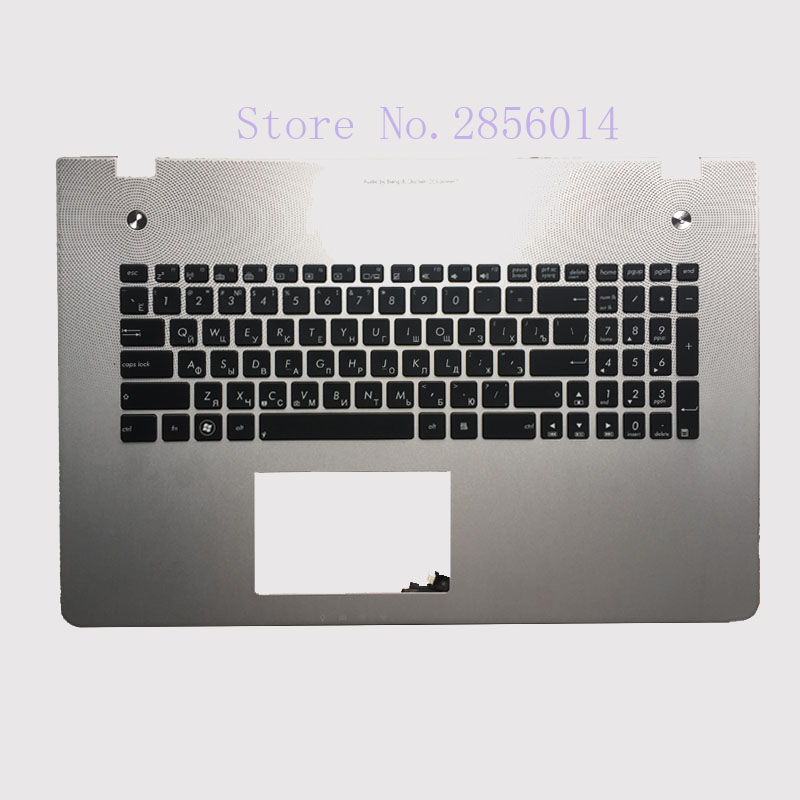 New Russian Keyboard for Asus N76 N76V N76S N76VM N76VB N76VJ N76VZ RU Laptop keyboard with backlit Palmrest Upper new russian ru laptop keyboard for lenovo ideapad u530 palmrest keyboard bezel cover touchpad with backlit 90204072 black
