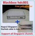 2016 Últimas singapur starhub cuadro blackbox c801 hd envío ver todos los canales mejor que blackbox c600