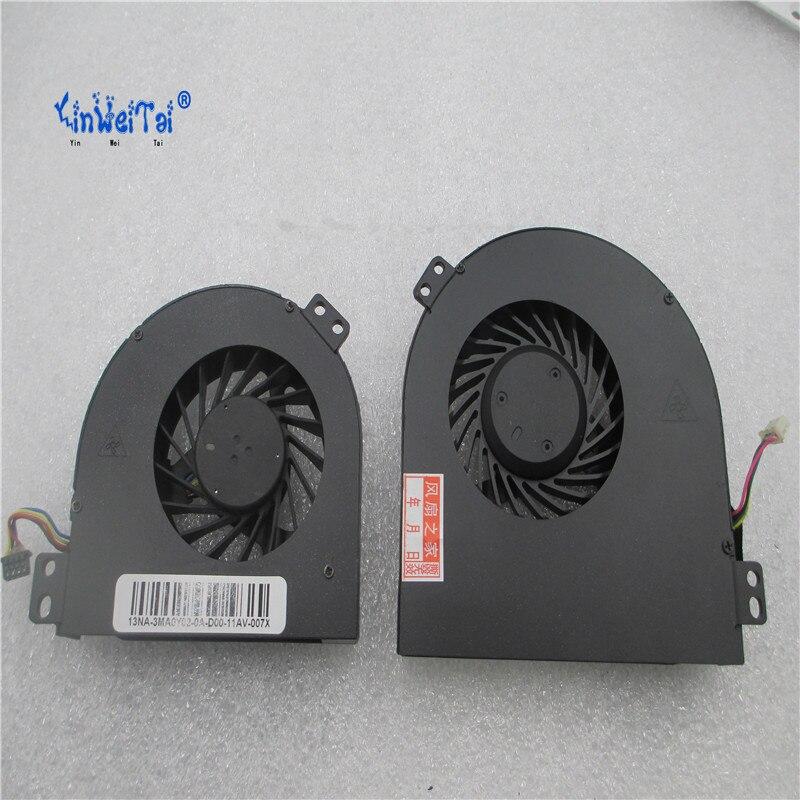 NEW CPU & GPU FAN FOR DELL Precision M4700 Cooling Fan MG60120V1-C170-S9A DC28000B3SL CMH49 1G40N MG60150V1-C030-S9A DC28000B2SL цена 2017