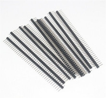 10pcsHot Sale10pcs 40 Pin 1×40 Single Row Male 2.54 Breakable Pin Header Connector Strip for Arduino