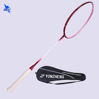 New 3U Professional Badminton Racket Female High Modulus Graphite Women Carbon Badminton Racquet Pink Rackets With