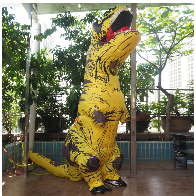 Adult T REX Costume Inflatable Dinosaur Party Costume Suit For Anime disfraces adultos costume Halloween Costumes for Women Men (18)