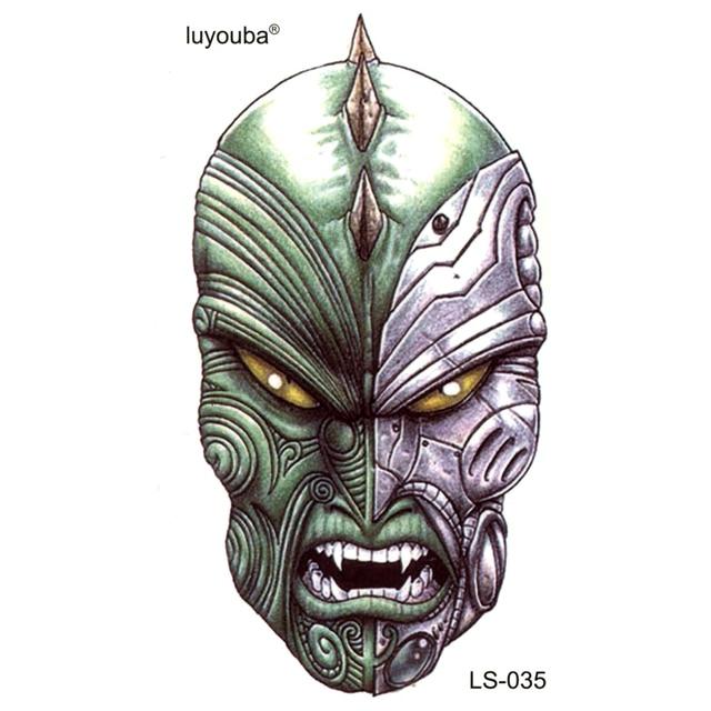 20pcs The Mask World Of Warcraft Waterproof Temporary Tattoos Men