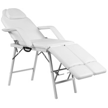 Giantex  75″ Portable Tattoo Parlor Spa Salon Facial Bed Beauty Massage Table Chair White Home Furniture HB85033