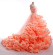 2016 Strapless Orange/Pink/Burgundy/Purple Princess Wedding Dresses Cascading Ruffles Maternity Pregnant Plus Size Custom Made
