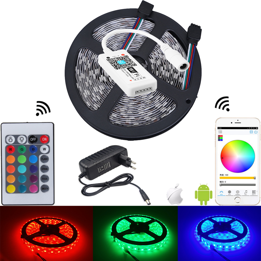 Iconnapp Comport Carpet Karpet Mercy E200 Compressor Deluxe 12cm 5m Rgb Led Strip 5050 Waterproof Colourful Light Tape Ribbon 60led M 24 Keys Wifi Remote Controller 12v 3a Adapter