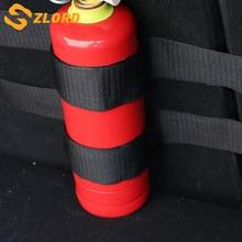 Zlord 자동차 인테리어 4 개/대 자동차 트렁크 소화기 홀더 나일론 바 스트랩 안전 보호 키트 C HR 2016 2017 2018