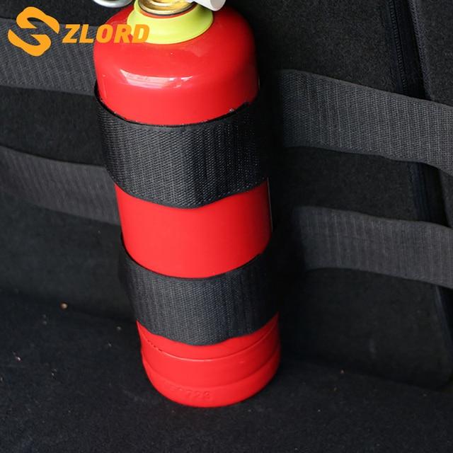 Zlord Car Interior 4Pcs/set car trunk Fire Extinguisher holder nylon bar Strap Safety Protection Kit for C HR 2016 2017 2018