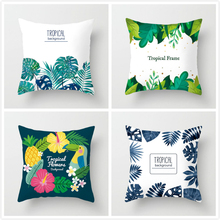 Fuwatacchi Tropical Plant Pillows Cover Autumn Flower Leaves Cushion For Home Car Room Chair Decorative Cases 2019