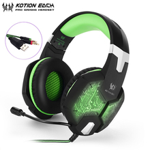 KOTION EACH G1000 Computer Stereo Gaming Headphones casque Breathing LED Light PS4 Headset with Microphone for PC Gamer