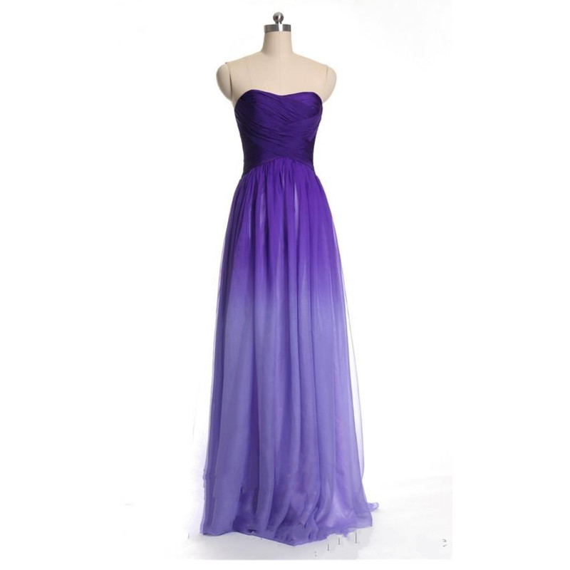 Online buy wholesale ombre bridesmaid dress from china for Purple ombre wedding dress