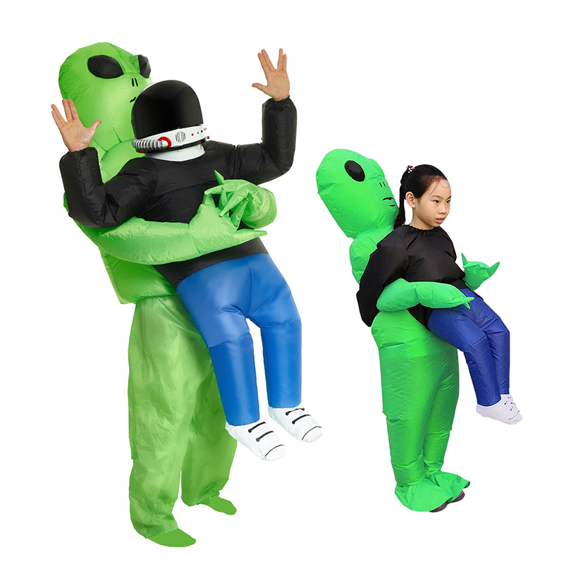 ET-Aliens Inflatable Costume Scary Monster Cosplay For Adult Kids  Halloween Party Festival Stage Pick Me Up Children's Clothing