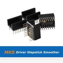 4pcs 3D Printer Parts MKS Stepstick Protector Coupler Module,  Drv8825/TMC100/TMC2208 Driver Smoother For Vibration Grain Filter durable 3d printer motherboard gt2560 drv8825 driver lcd2004 kit 3d printer parts