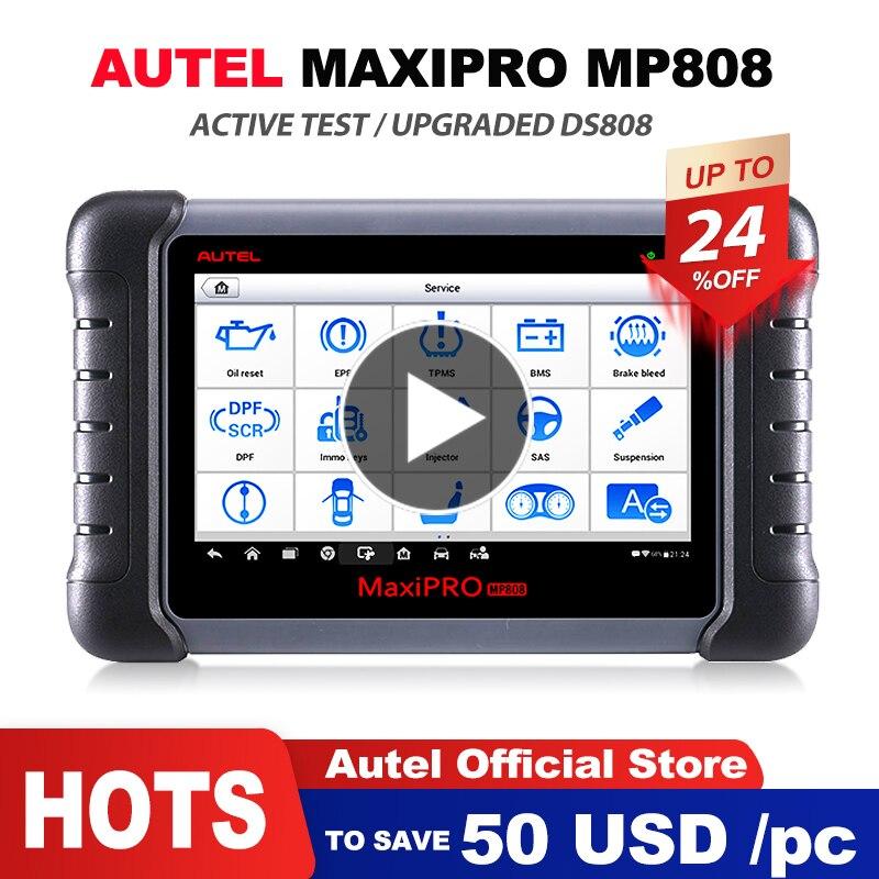 Herramienta de diagnóstico Autel MaxiPRO MP808 OBD2 profesional de nivel OE herramienta de diagnóstico OBDII codificación de llave PK Autel DS808 DS708 MS906 pro
