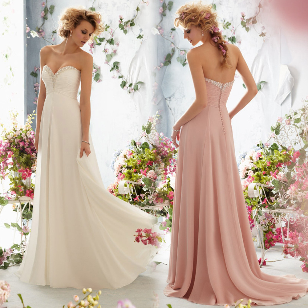 Bride formal dress strapless chiffon backless sexy wedding for Strapless and backless wedding dress