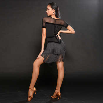 Latin dance clothes women\'s new suit exercise clothes performance clothing tassel Latin dance dress A3169