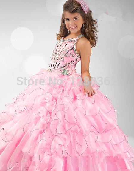 Online Buy Wholesale pink puffy dress for kids from China pink ...