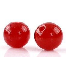DoreenBeads акриловые разделительные бусины, круглые красные 8 мм диаметр, 300 шт. (B22452), yiwu
