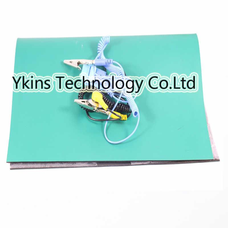 Бесплатная доставка антистатический коврик 400*300*2 мм антистатическое одеяло ESD коврик для ремонта работы + заземленная проволока + ESD запястье