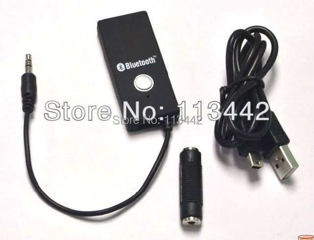 Free shipping mini Wireless Bluetooth  Stereo HiFi  A2DP Stereo Audio Dongle Adapter Connector 3.5mm Receiver hot sale