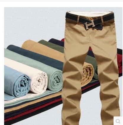 Мужские летние брюки 2017 новый тонкий хлопок стиральные мужская повседневная брюки, мужские Повседневные брюки, Бесплатная Доставка 12 размер 9 цвет