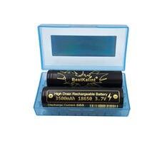 Bateria eletrônica recarregável do cigarro das baterias da parte superior lisa das baterias 18650 mah 60a 3500 v de bestkalint imr 3.7 nova