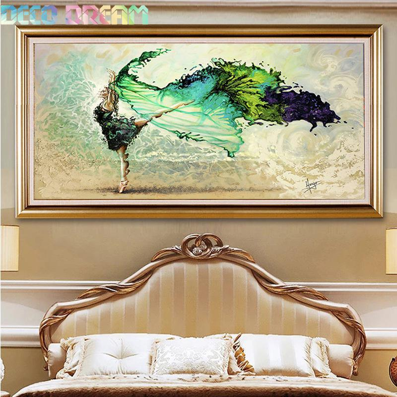 Diy Diamond Painting Dancing Youth Full Diamond Embroidery European Impression Decoration For Living Room A Good