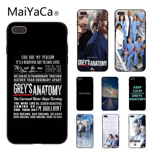 Anatomia de Grey MaiYaCa Macio Acessórios Do Telefone Caso de Alta Qualidade Para Apple iphone 5 5s 5c SE E 6 s 7 8 caso de Telefone