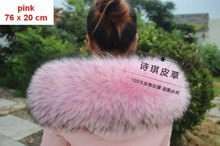 76X20CM 100% Genuino Real Natural de piel de Mapache Collar de Las - Accesorios para la ropa - foto 5
