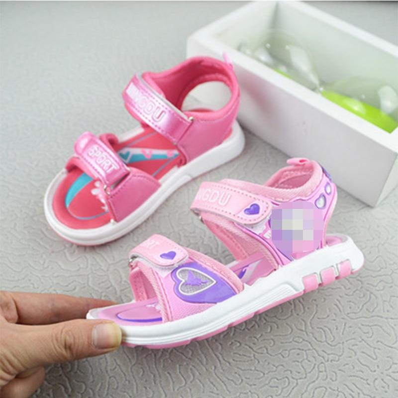 Summer New Sandals Cute Cartoon Character Beach Fashion Flashing Sandals Light Shoes Girls Boys Fashion Breathable Flats Shoes