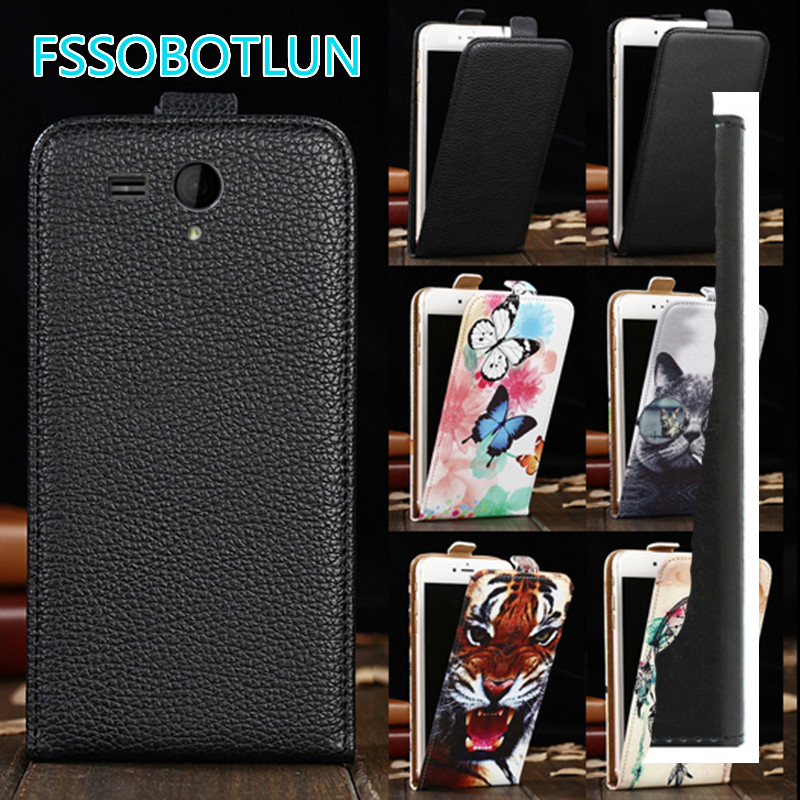 Factory direct! For Fly IQ4502 Era Energy 1 Quad Cartoon Painting vertical phone cover bag flip up and down PU Leather Case