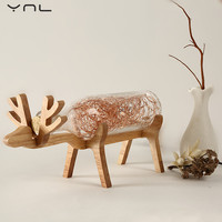 Cartoon Christmas Deer LED USB Night Light Children S Table Lamp String Lights Creative Nordic Styles