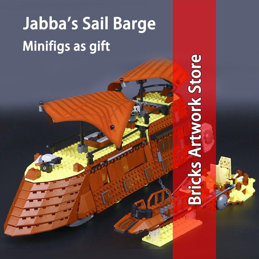 821 pcs 05090 Série Star Wars de Jabba Barge Ensemble Mini figurines Modèle Blocs De Construction Jouet pour Enfants Compatible 6210