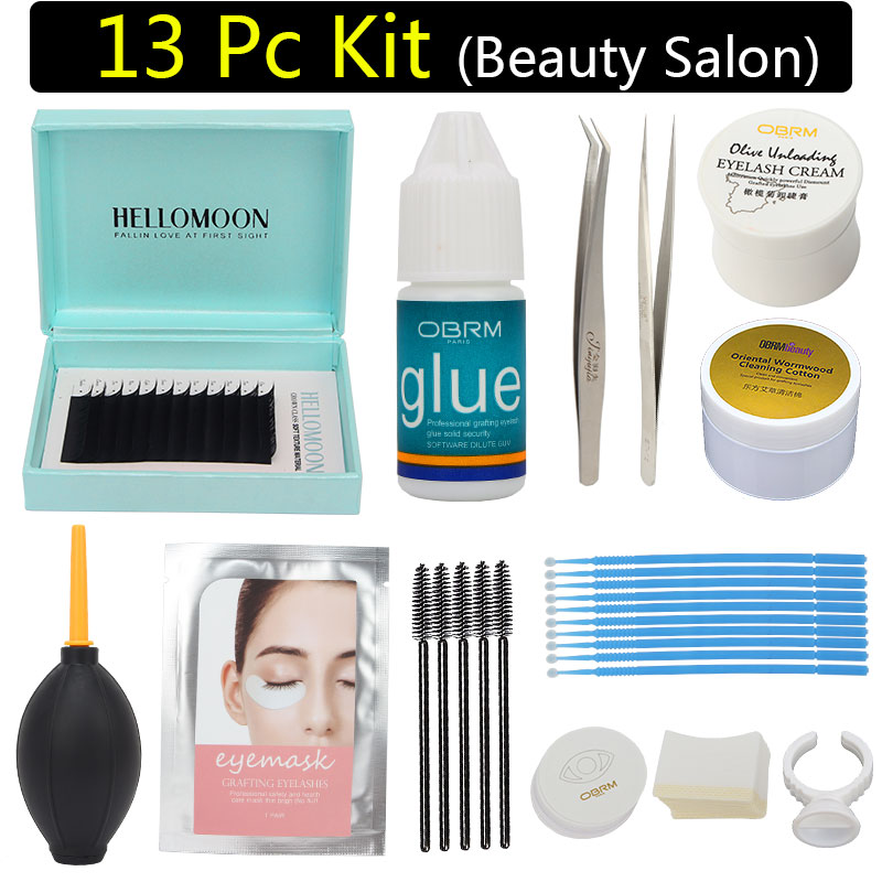 eyelash extension kit professional, Beauty salon eye lash kit, eyelash set,including lash glue remover, lash extension tool kit acrylic eyelash extension tool lash holder glue holder make up eyelash title box