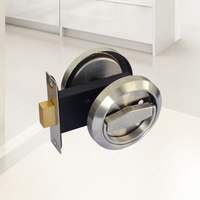 Creative Double sided Lock Stainless Steel Sliding Door Invisible Lock Handle Door Hardware